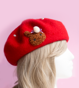 Bunny Beret Red