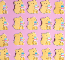 Load image into Gallery viewer, Officially Salty Teddy Bear Vinyl Sticker