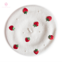 Load image into Gallery viewer, Strawberry Beret - Larme Fashion MULTIPLE COLORS AVAILABLE