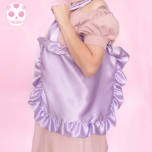 Load image into Gallery viewer, Japanese Style Satin Ruffle Tote Bag