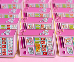Pink Japanese Vending Machine Enamel Pin