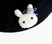 Load image into Gallery viewer, Bunny Beret Black