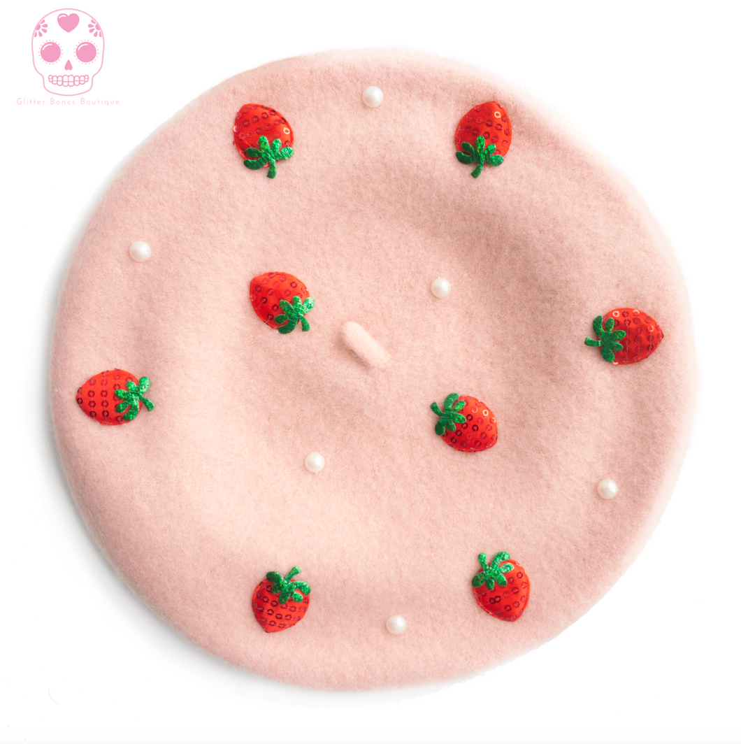 Strawberry Beret - Larme Fashion MULTIPLE COLORS AVAILABLE