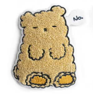 "Osito ""No"" Chenille Sew on Patch"