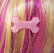 Load image into Gallery viewer, Glitter Bone Hairclip