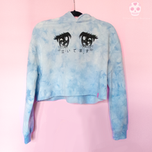Load image into Gallery viewer, Cry Baby Anime Eyes Marble Hoodie - Glitter Bones Boutique