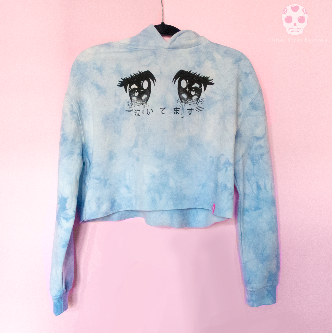 Cry Baby Anime Eyes Marble Hoodie - Glitter Bones Boutique