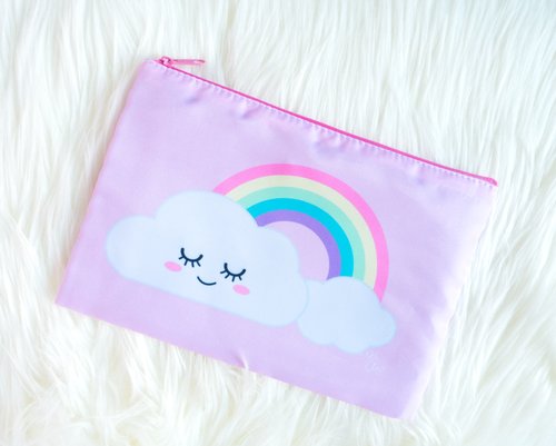 Happy Cloud Zippered Pouch - Glitter Bones Boutique