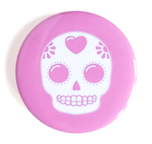 Load image into Gallery viewer, Sugar Skull Button - Glitter Bones Boutique