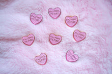 "Load image into Gallery viewer, Candy Heart ""You Make Me Puke"" Pin - Glitter Bones Boutique"