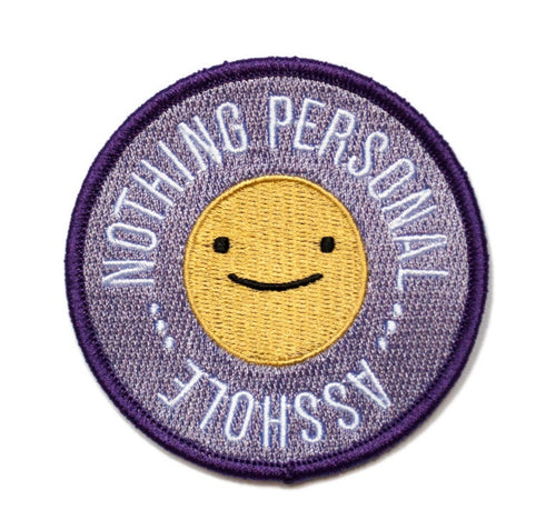 ☺ Smiley Face Nothing Personal Patch ☺ - Glitter Bones Boutique