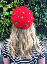 Load image into Gallery viewer, Strawberry Beret - Kawaii Larme Harajuku - Glitter Bones Boutique