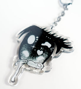 Anime Eye Crying Keychain - Glitter Bones Boutique