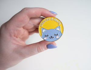Snacks & Naps Cat Pin - Glitter Bones Boutique