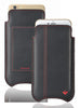 Apple iPhone 12 Pro Max Wallet Case in Black Leather | Screen Cleaning Sanitizing Lining.