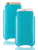 iPhone 8 Plus / 7 Plus Sleeve Wallet Case in Blue Faux Leather | Screen Cleaning Sanitizing Lining.
