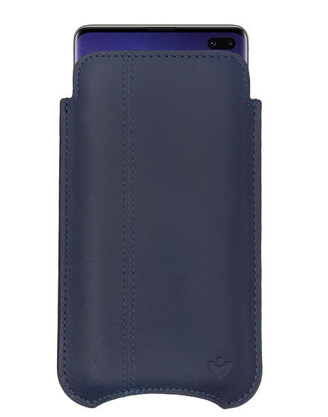 NueVue   Samsung Galaxy S10+ Blueberry Blue Leather Wallet