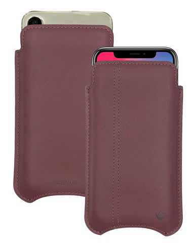 NueVue iPhone X Leather Brown Phone Case