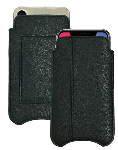 NueVue iPhone X faux leather case Black