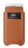 iPhone 6/6s Pouch Case in Tan Napa Leather | Screen Cleaning  Sanitizing Lining | smart window