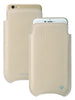 White Leather 'Screen Cleaning' iPhone 6/6s pouch case with antimicrobial lining