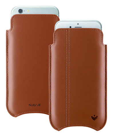 iPhone 6/6s Sleeve Case in Tan Napa Leather | Screen Cleaning Sanitizing Lining