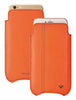 iPhone 8 Plus / 7 Plus Sleeve Case in Orange Faux Leather | Screen Cleaning and Sanitizing Lining.