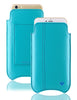 iPhone 8 / 7 Wallet Case in Blue Faux Leather | Screen Cleaning Sanitizing Lining.