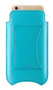 iPhone 6/6s Plus Wallet Case in Teal Blue Vegan Leather | Screen Cleaning Sanitizing Sleeve Case