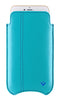 Apple iPhone 12 Pro Max Wallet Case in Teal Blue Vegan Leather | Screen Cleaning Sanitizing Lining