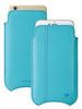 iPhone 8 Plus / 7 Plus Sleeve Case in Blue Faux Leather | Screen Cleaning Sanitizing Lining.
