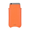 Orange Faux Leather 'Built-in Screen Cleaning Technology' iPhone 8 / 7 pouch window case