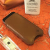 iPhone SE, 5 Case in Tan Napa Leather | Screen Cleaning antimicrobial lining