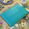 Apple iPad Sleeve Case in Blue Vegan Leather | Screen Cleaning and Sanitizing Lining