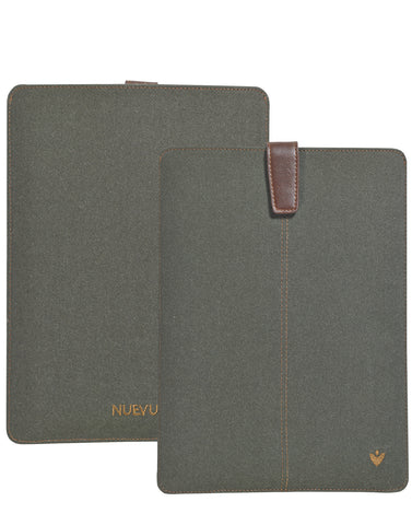 Samsung Galaxy Tab S3 Sleeve Case in Green Cotton Twill