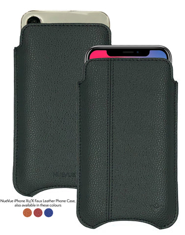 iPhone X/Xs Case | Screen Cleaning and Sanitizing Lining | Faux Vegan Approved Leather