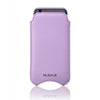 Vegan Leather 'Screen Cleaning' iPhone 6/6s Sugar Purple pouch case with antimicrobial lining