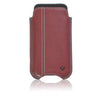 iPhone SE-1st Gen, 5s Pouch Case in Burgundy Napa Leather | Screen Cleaning Sanitizing Lining.