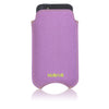 iPhone SE, 5 Pouch Case in Purple Canvas | Screen Cleaning antimicrobial lining