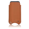 Tan Leather 'Screen Cleaning' iPhone SE, 5 pouch case with antimicrobial lining