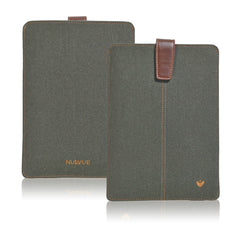 Green Cotton Twill 'Screen Cleaning' iPad mini sleeve case with antimicrobial lining