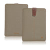iPad mini sleeve case Khaki Cotton Twill 'Screen Cleaning' with sanitizing lining