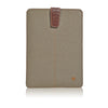 iPad mini Sleeve Case in Khaki Cotton Twill | Screen Cleaning Sanitizing Lining.
