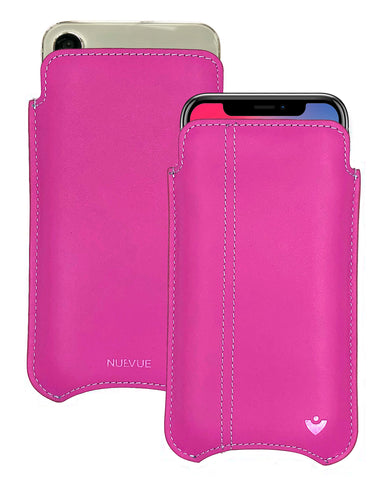 NueVue iPhone X Leather Pink Phone Case