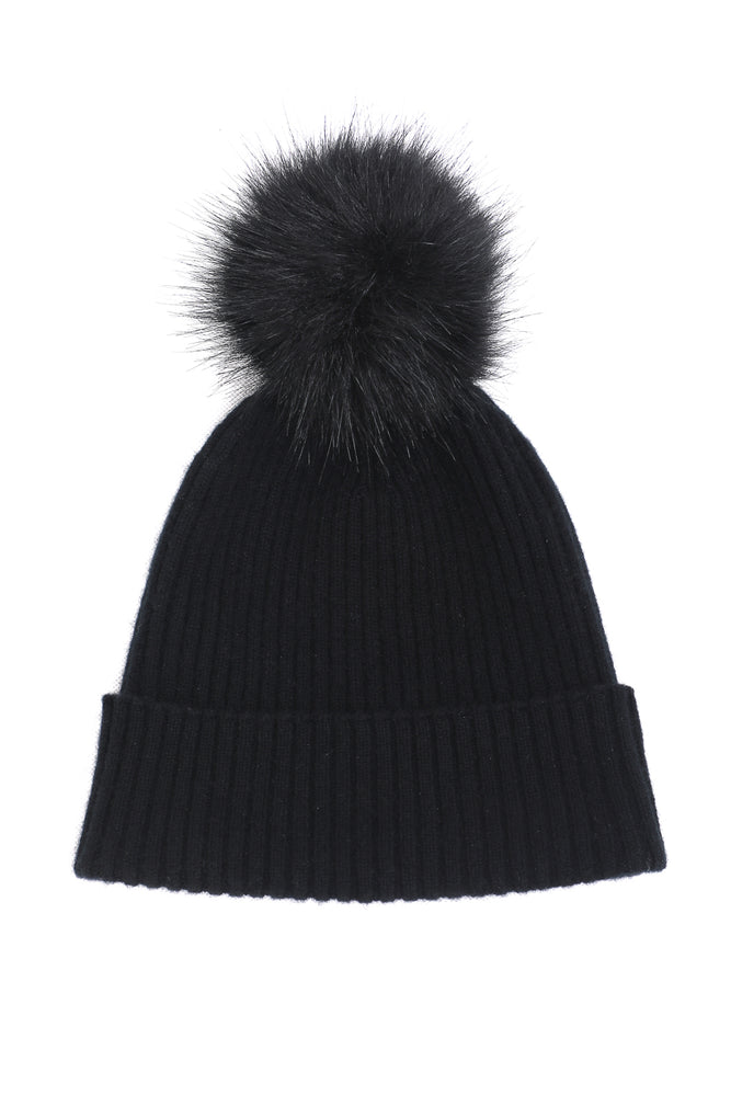 Sustainable Cashmere Hat - Black