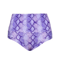 'Cobra' print purple shorts