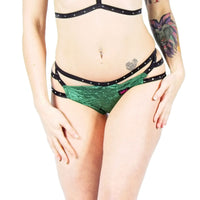 'Velvet Angel' Shorts Forest green
