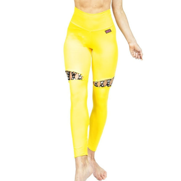 'Mystique' high waist leggings yellow