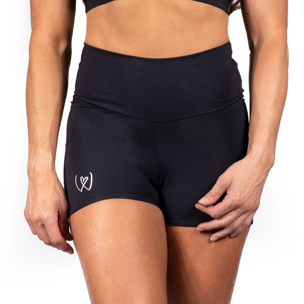 'Warrior' High waist compression shorts black