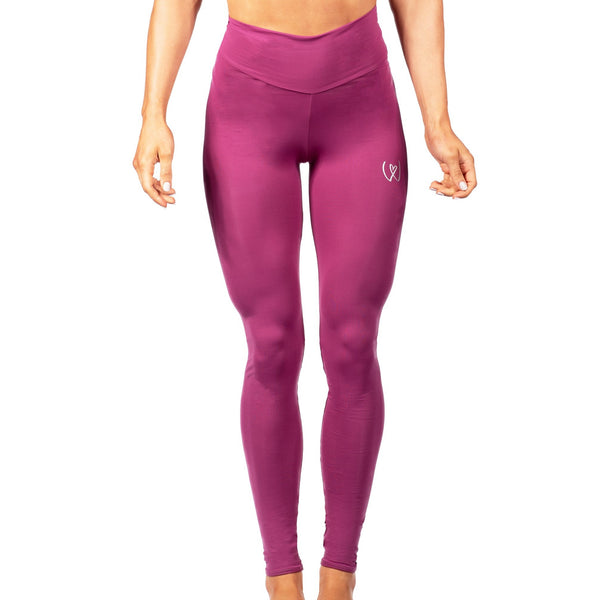 'Warrior' High waist compression leggings plum